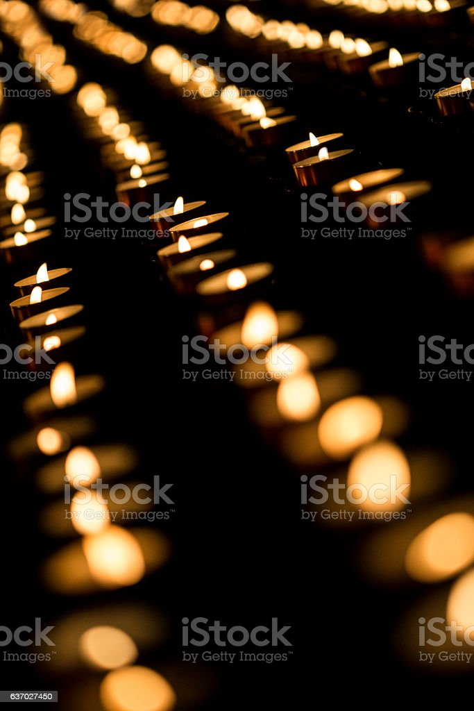 Small candles stock photo