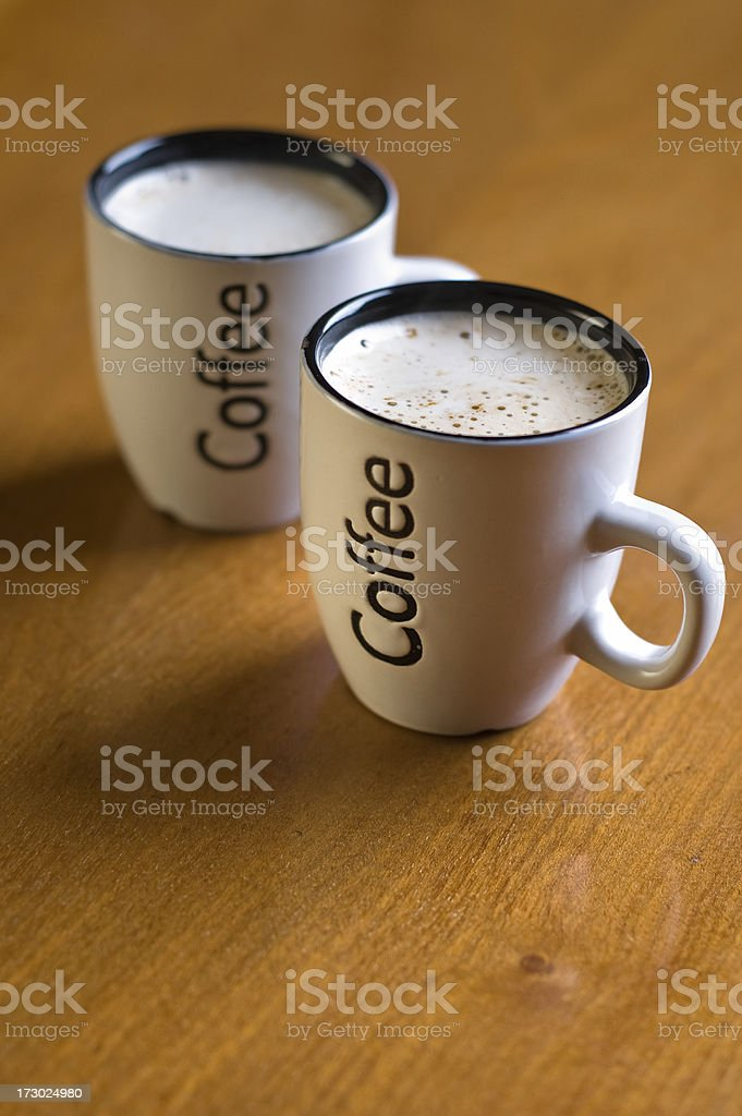 Small cappuccino cup royalty-free stock photo