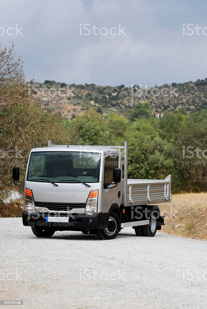 Small cargo truck royalty-free stock photo