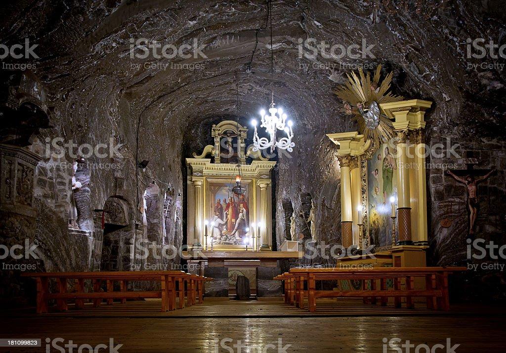 Small chapel in salt mine royalty-free stock photo