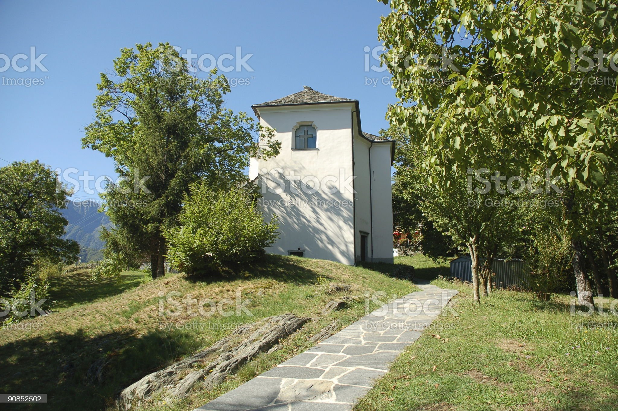 Small Chapel in Ticino Canton royalty-free stock photo