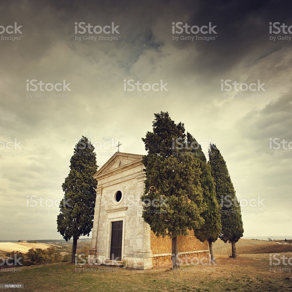 small chapel in Tuscany royalty-free stock photo
