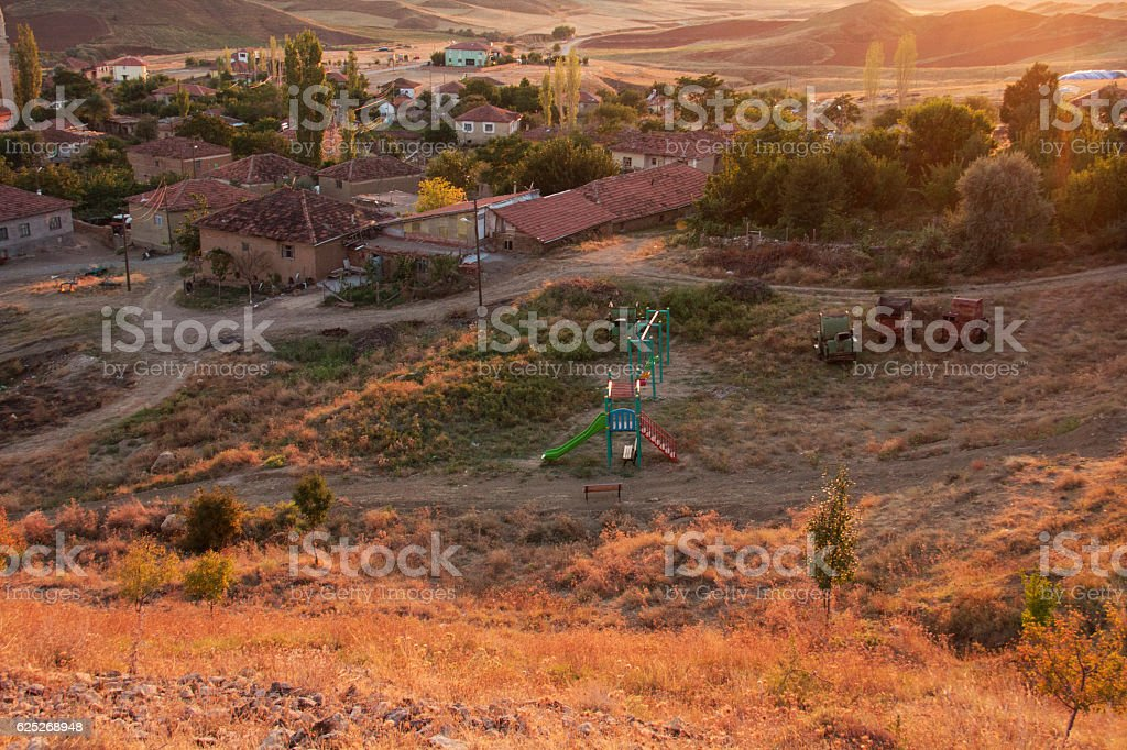 Small charming village. stock photo