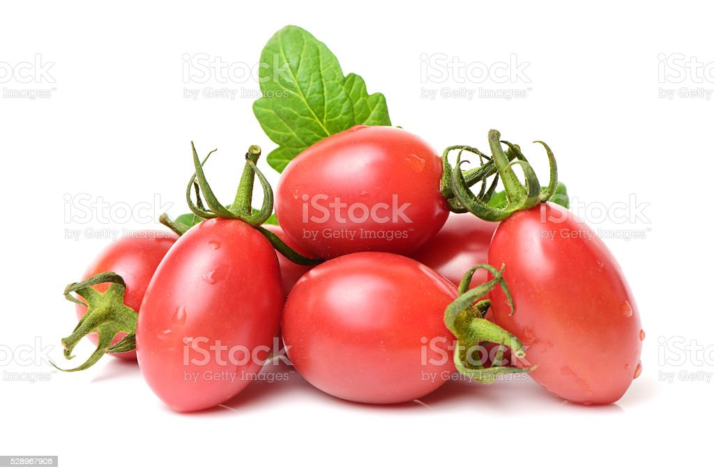 Small cherry tomato stock photo