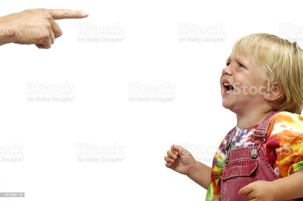 Small child having a tantrum stock photo