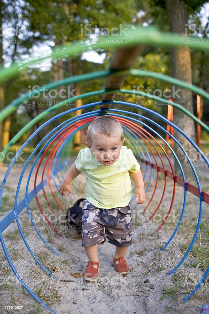 small child on a playground royalty-free stock photo