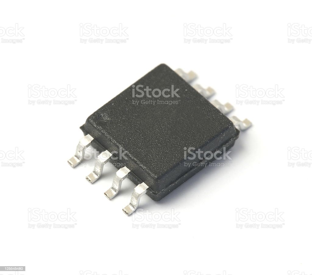 Small chip stock photo