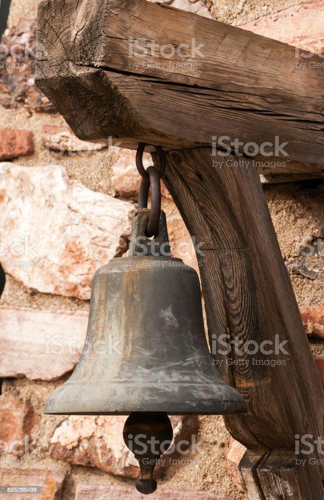 Small church bell closeup stock photo