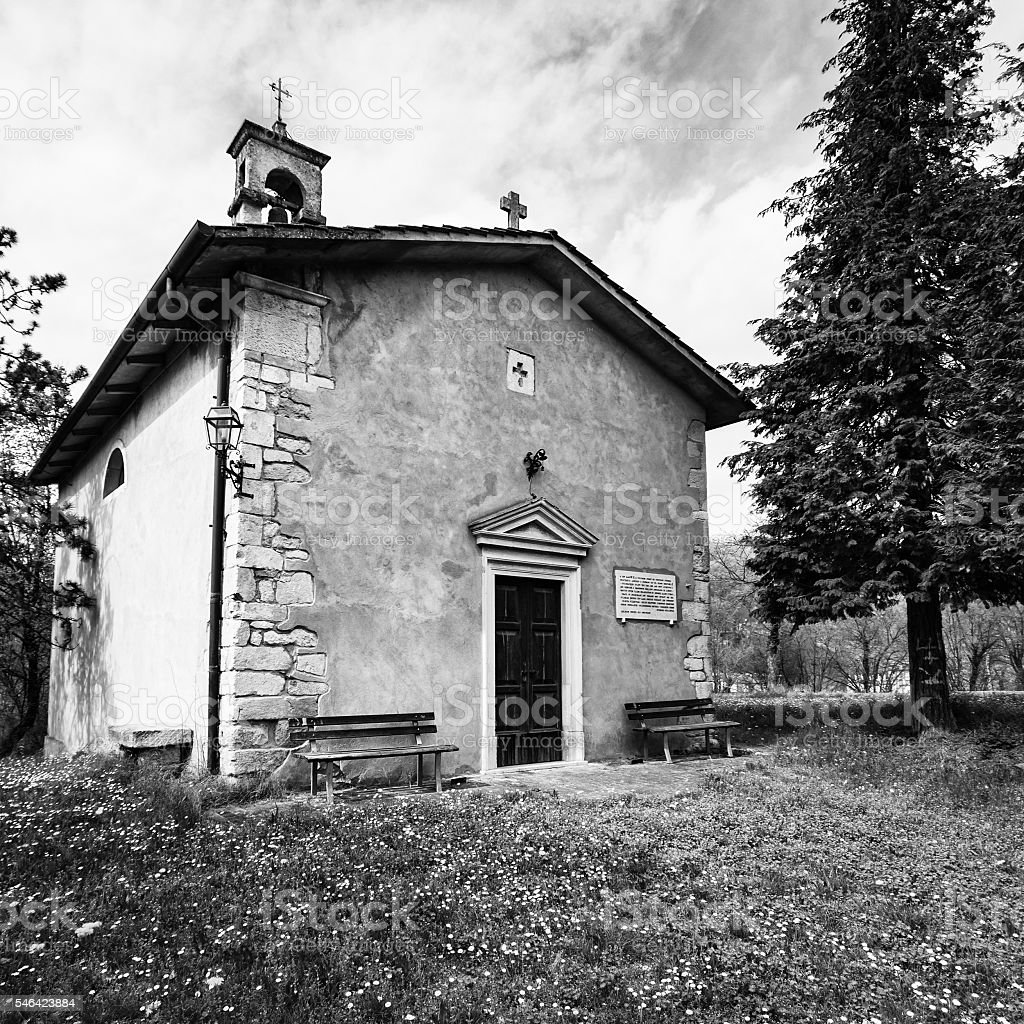 Small church dedicated to St. Anthony Abbot. stock photo