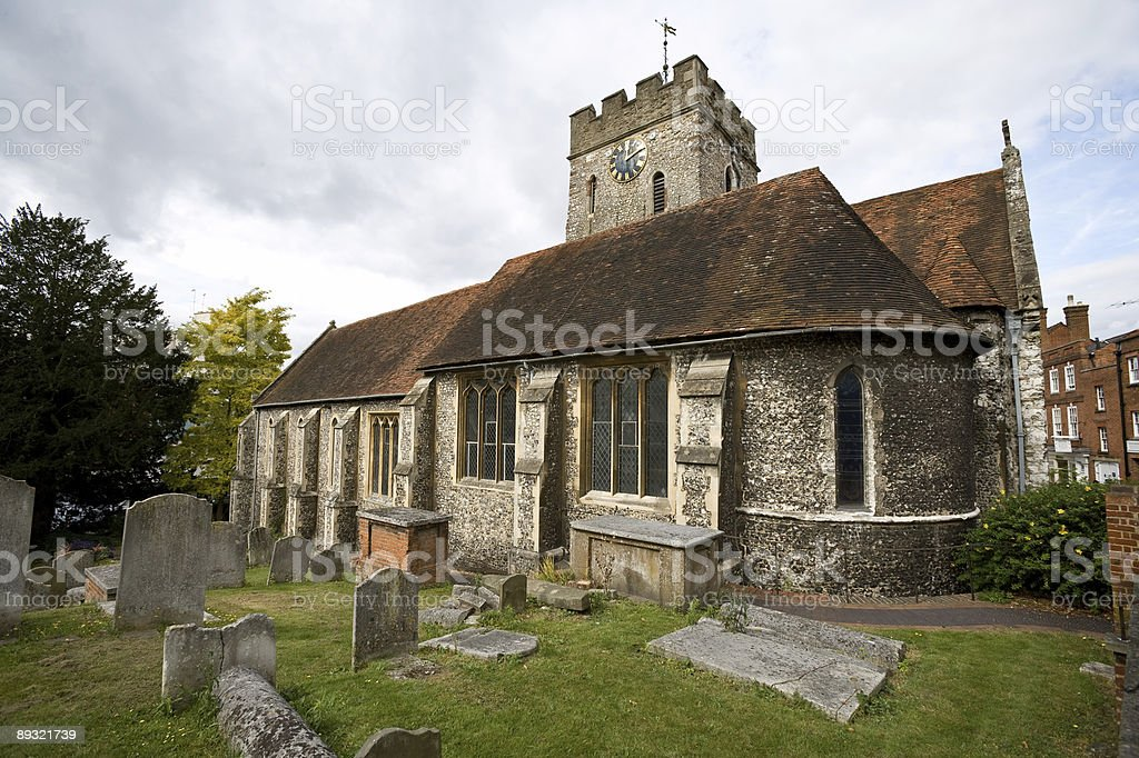 Small church, Guildford, Surrey, UK stock photo