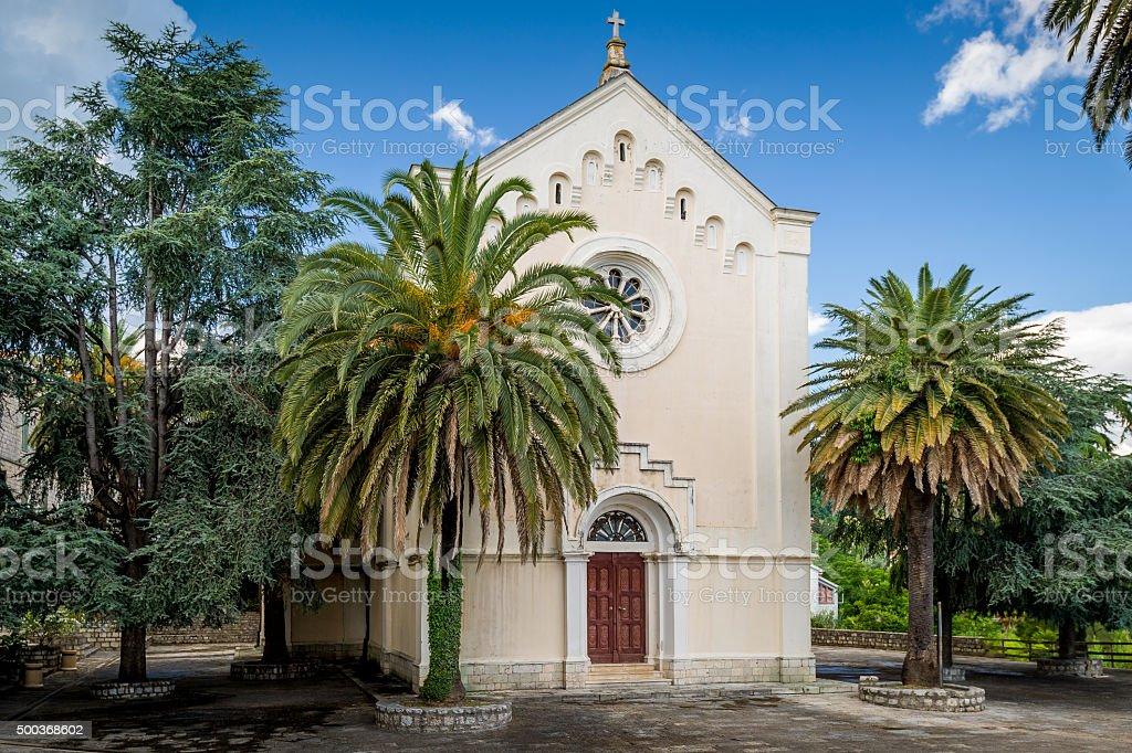 Small church in Forte Mare stock photo