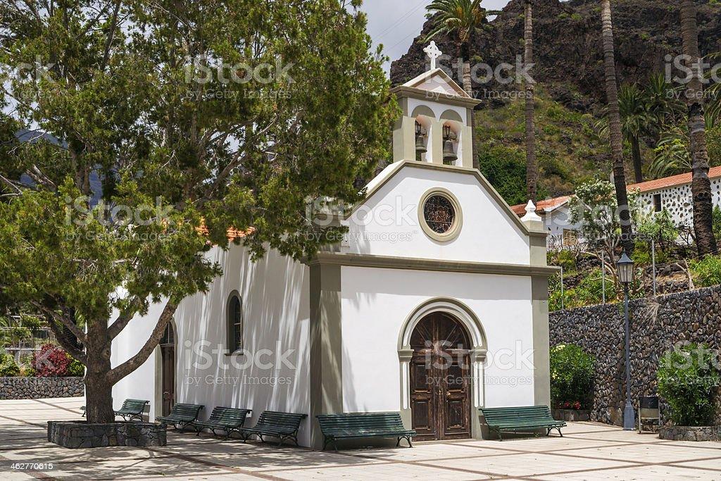 Small church in Valle Gran Rey stock photo
