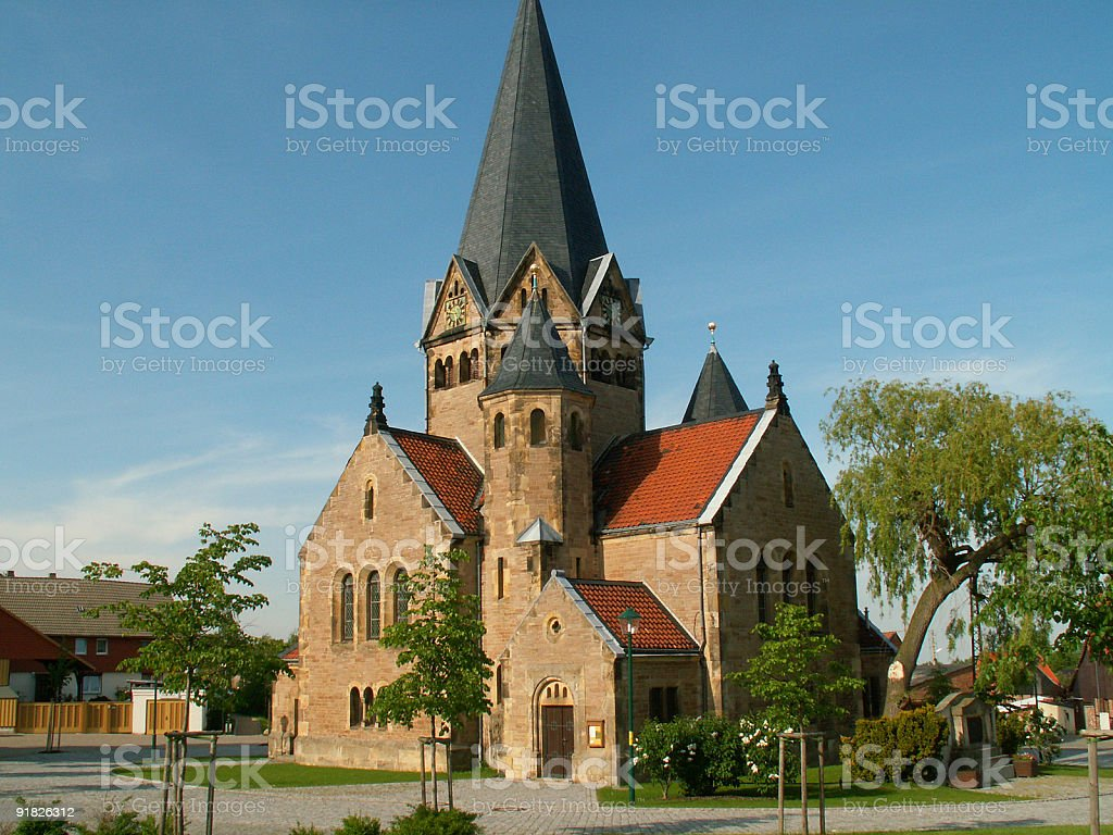 Small church of Benzigerode, Germany royalty-free stock photo