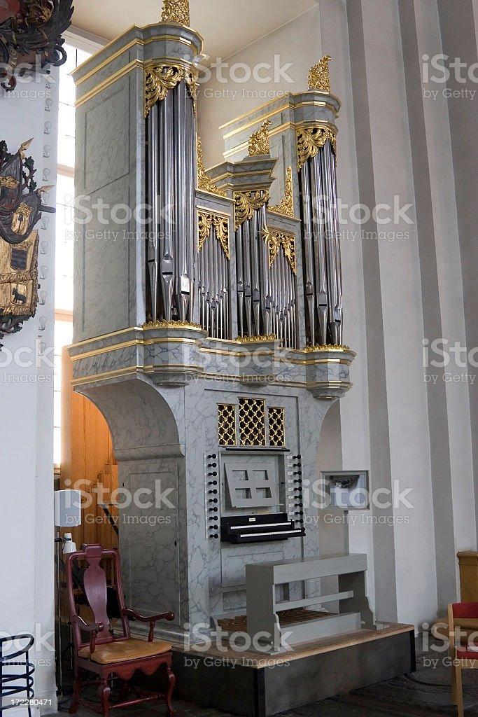 Small church organ stock photo
