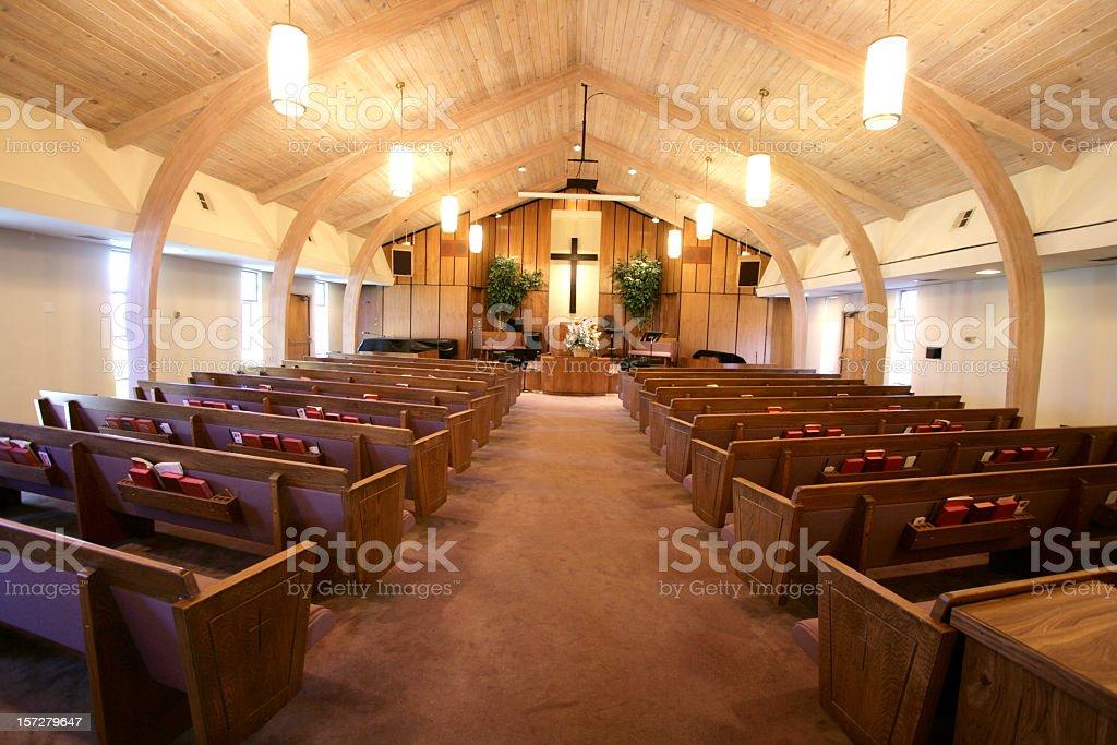 Small Church Sanctuary stock photo