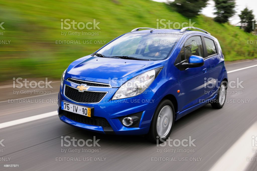 Small city car stock photo