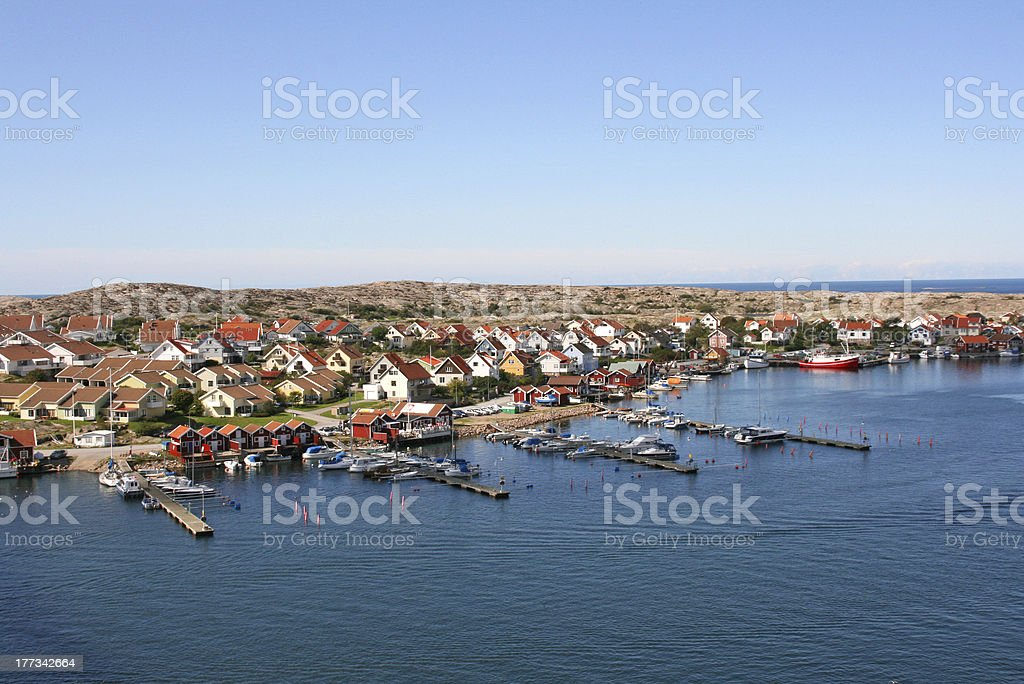 Small city of smogen, sweden royalty-free stock photo