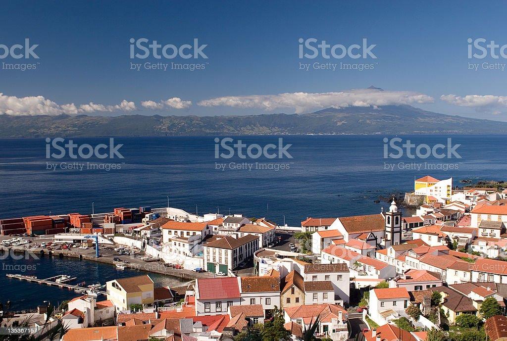 Small city on coast royalty-free stock photo