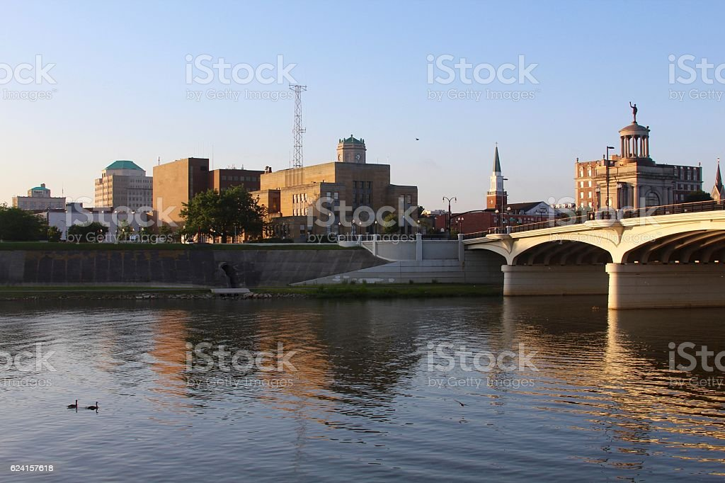 A small city by the river.