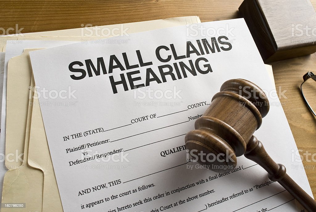 Small claims court royalty-free stock photo