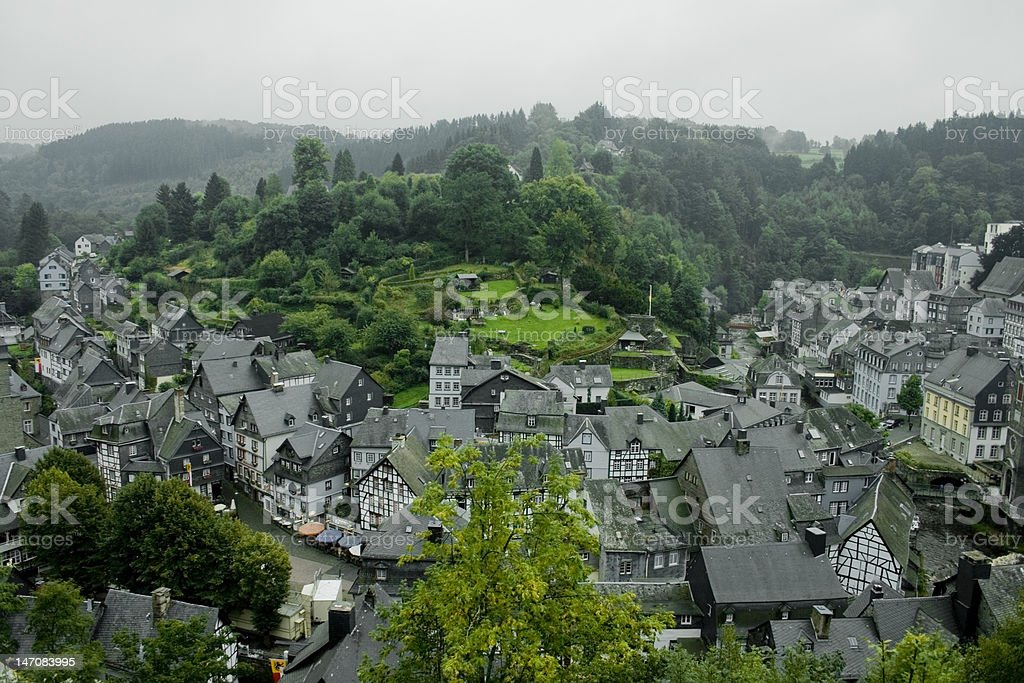 Small classic german town called Monschau royalty-free stock photo