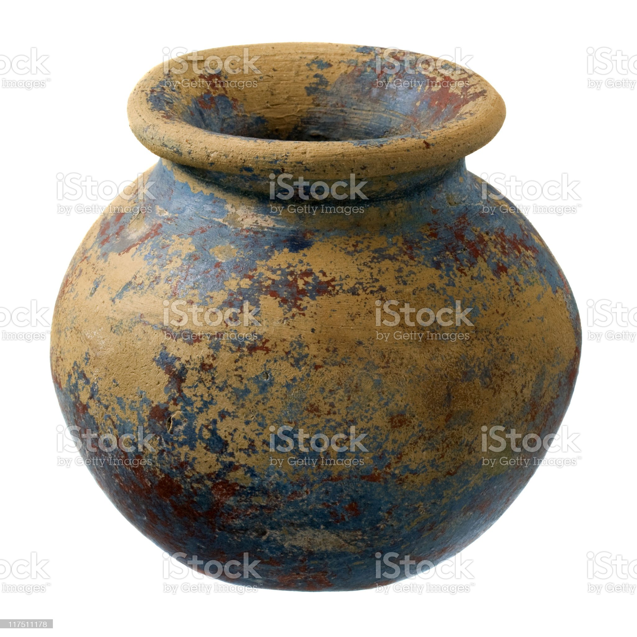 small clay plant pot with rough finish royalty-free stock photo