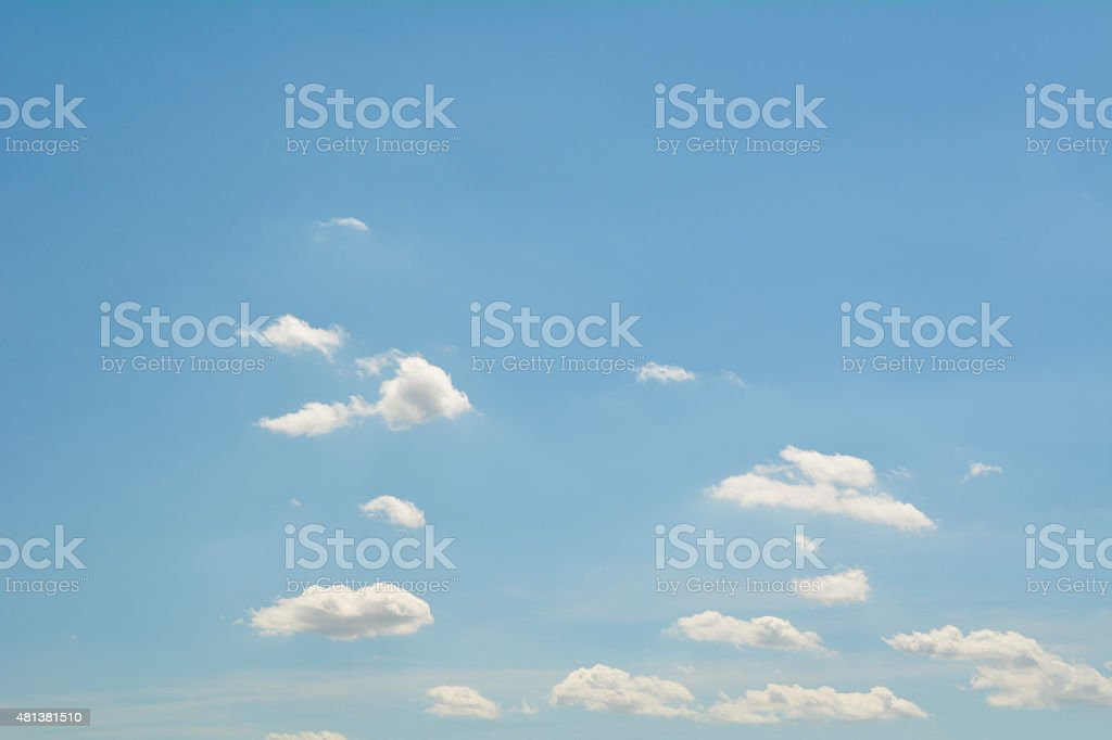 Small clouds in the blue sky stock photo
