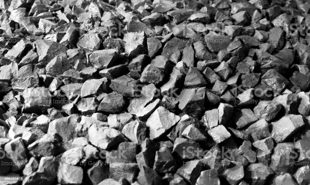 Small coals texture in black and white stock photo