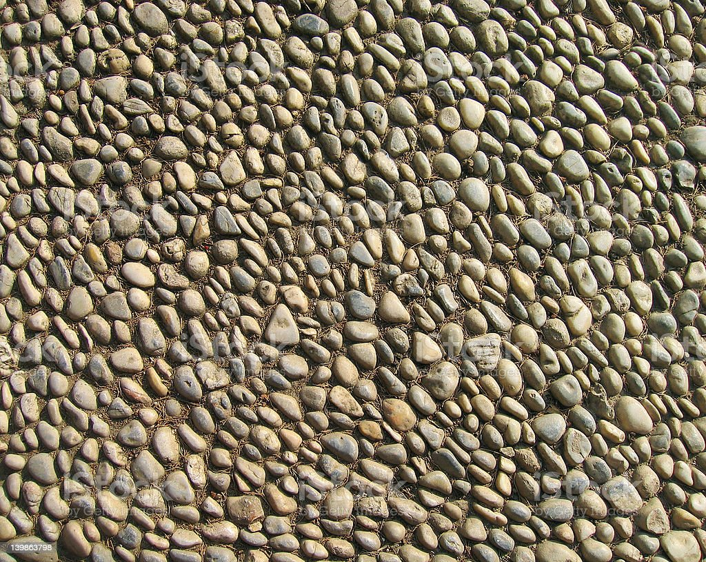 Small cobble stones royalty-free stock photo