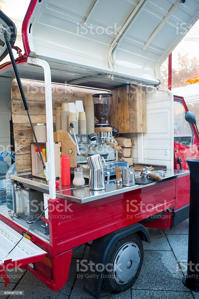 Small coffee food street stock photo
