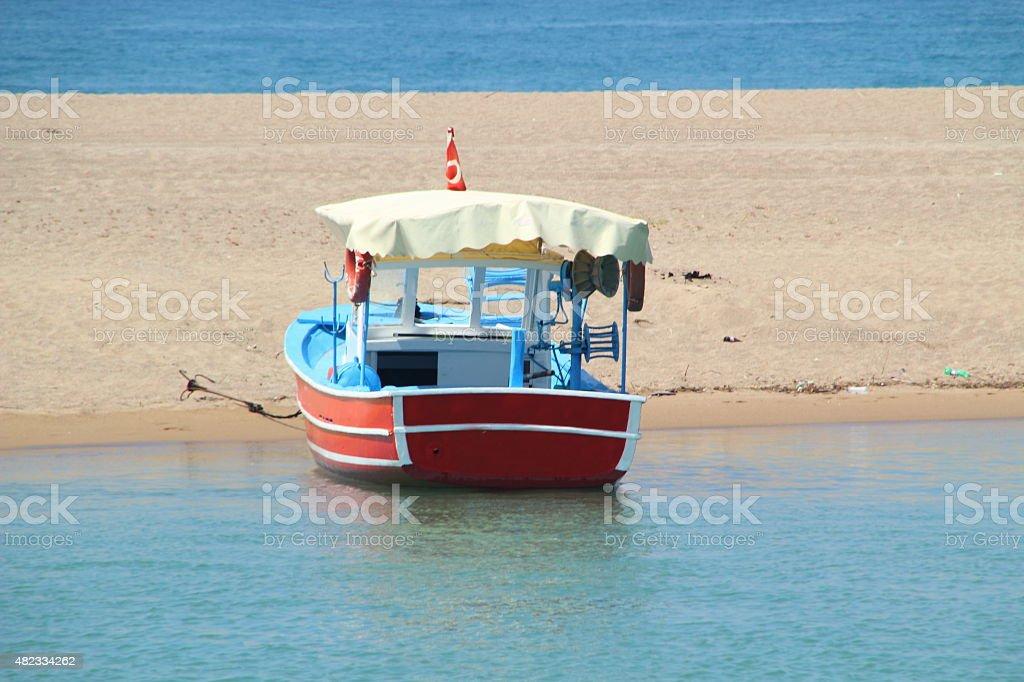 small coloful boat stock photo