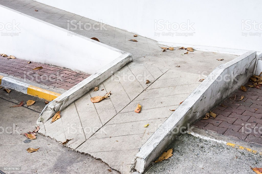 Small concrete ramp stock photo