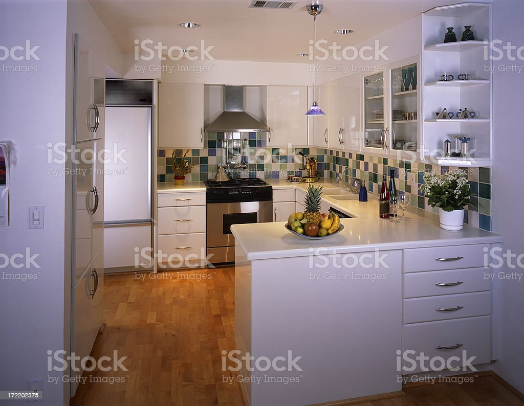 Small Contemporary Home Kitchen royalty-free stock photo