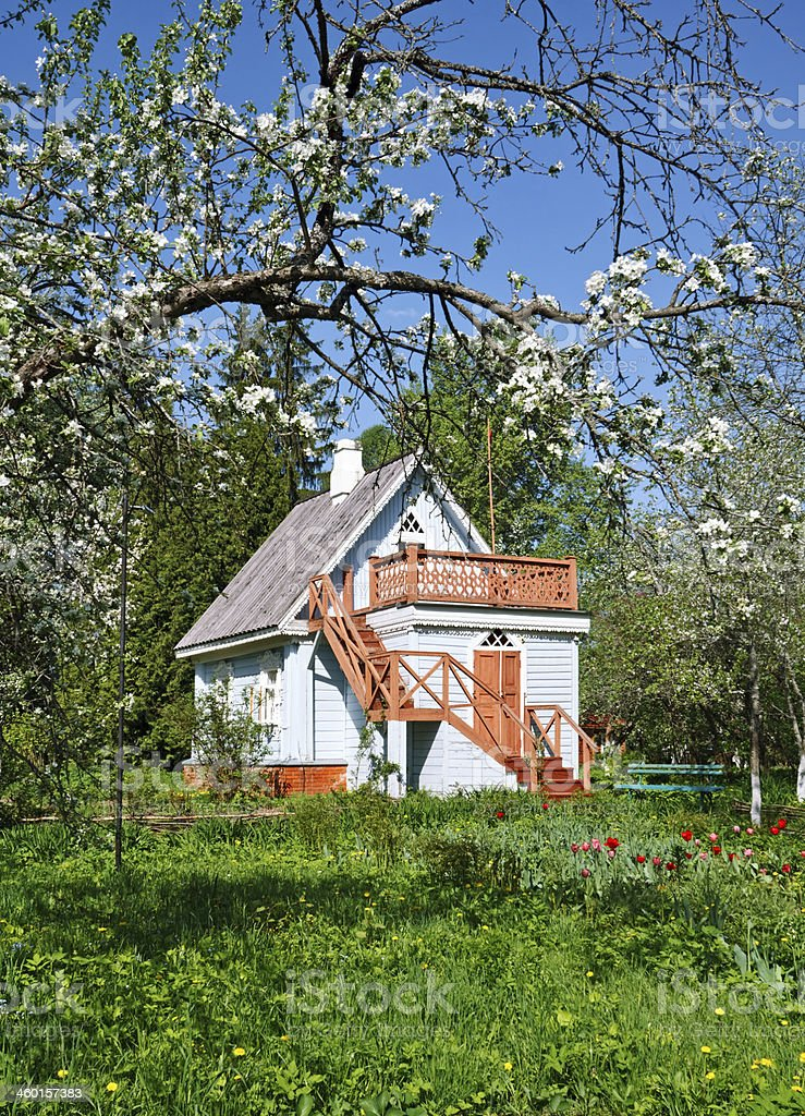 Small  cottage stock photo