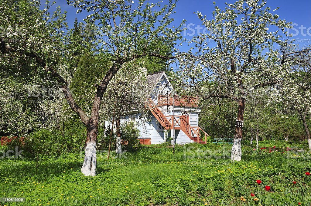 Small cottage, Russia stock photo