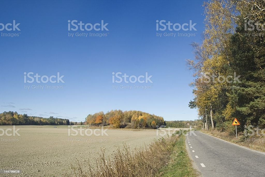 Small country road royalty-free stock photo