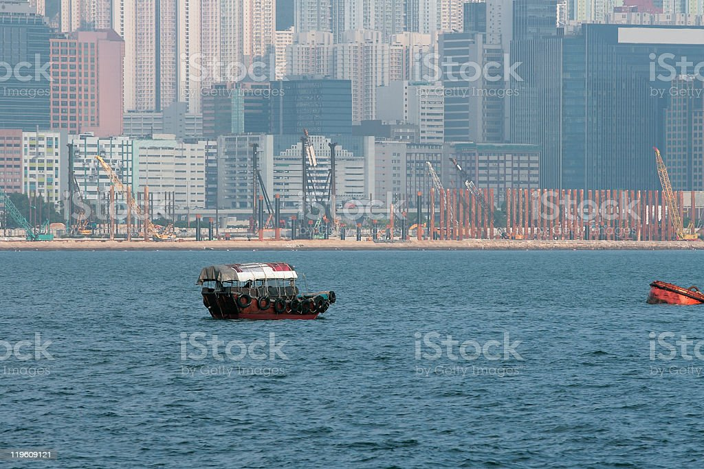 Small craft in Hong Kong stock photo