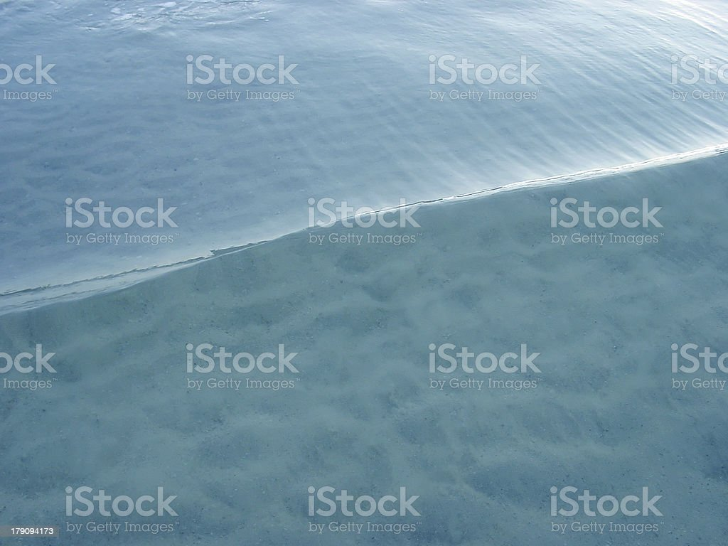 Small crisp wave of clear ocean water royalty-free stock photo