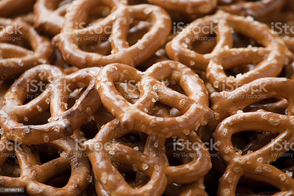 Small Crispy Pretzel Twists royalty-free stock photo