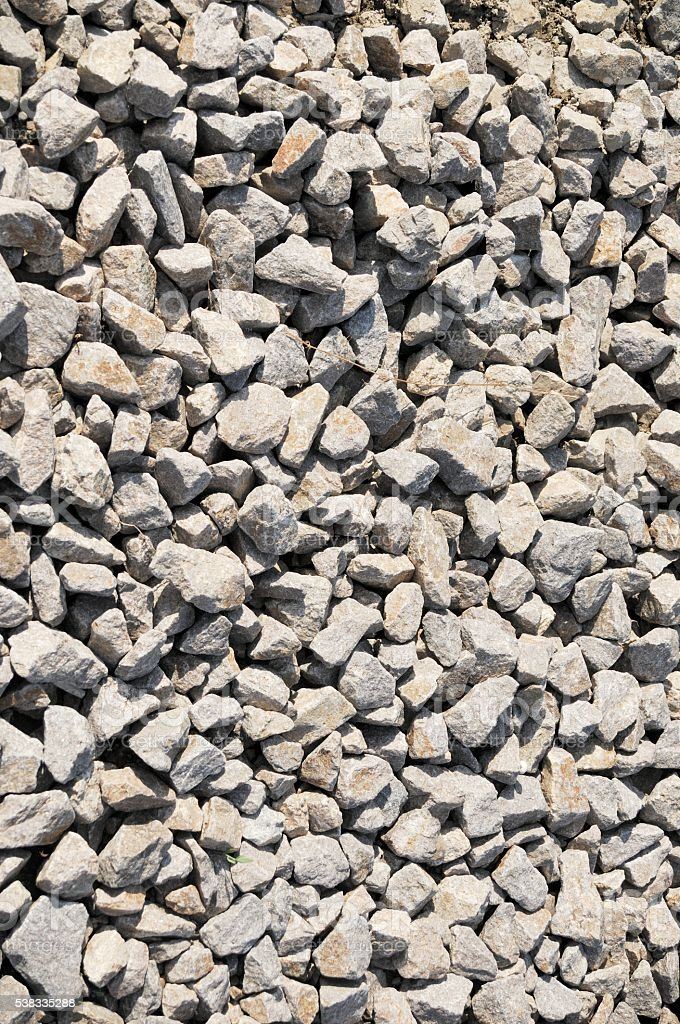 Small Crushed Rock stock photo