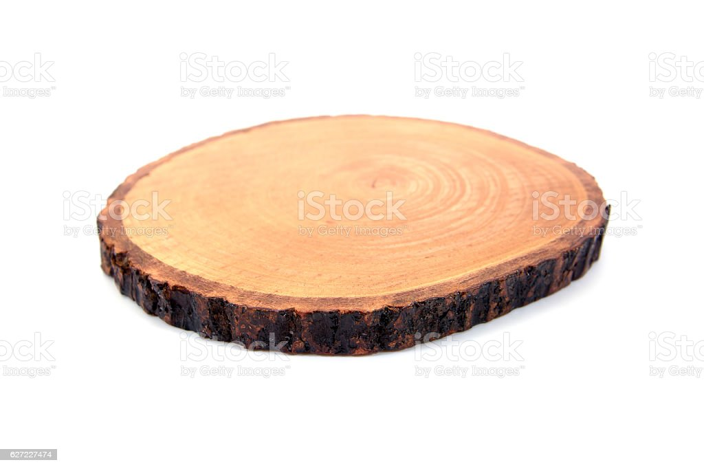 Small cutting board isolated on white background.Chopping board stock photo