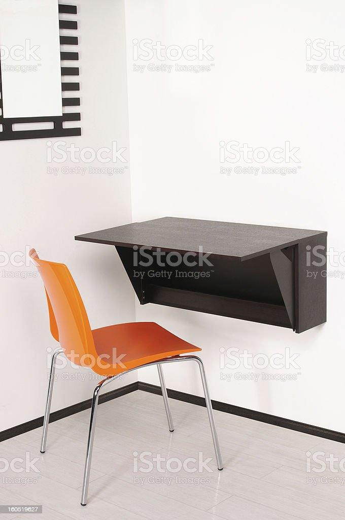 Small desk. royalty-free stock photo