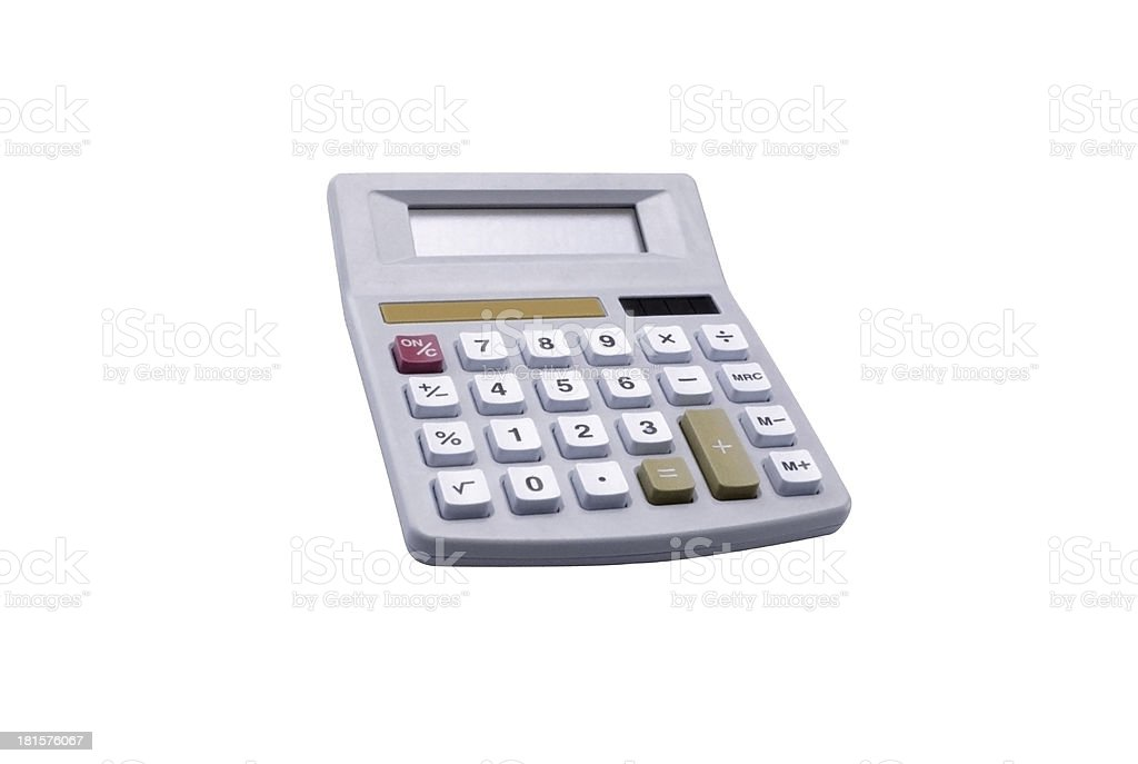 Small digital calculator royalty-free stock photo