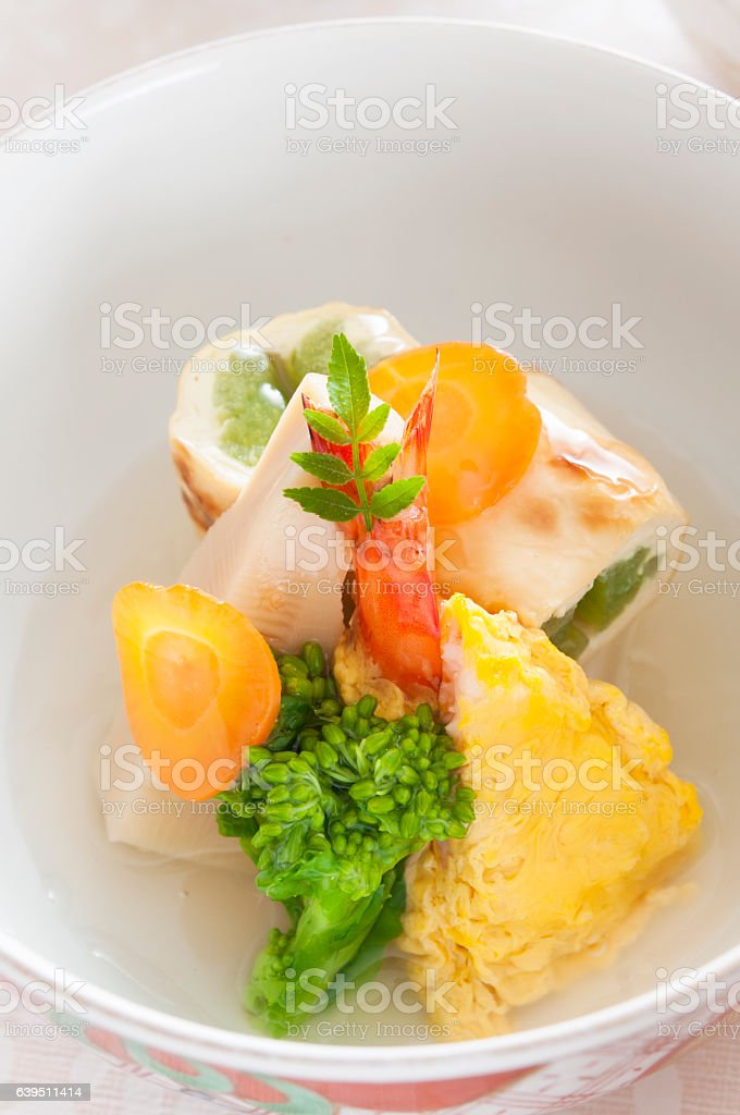 Small Dishes, Kaiseki Style stock photo