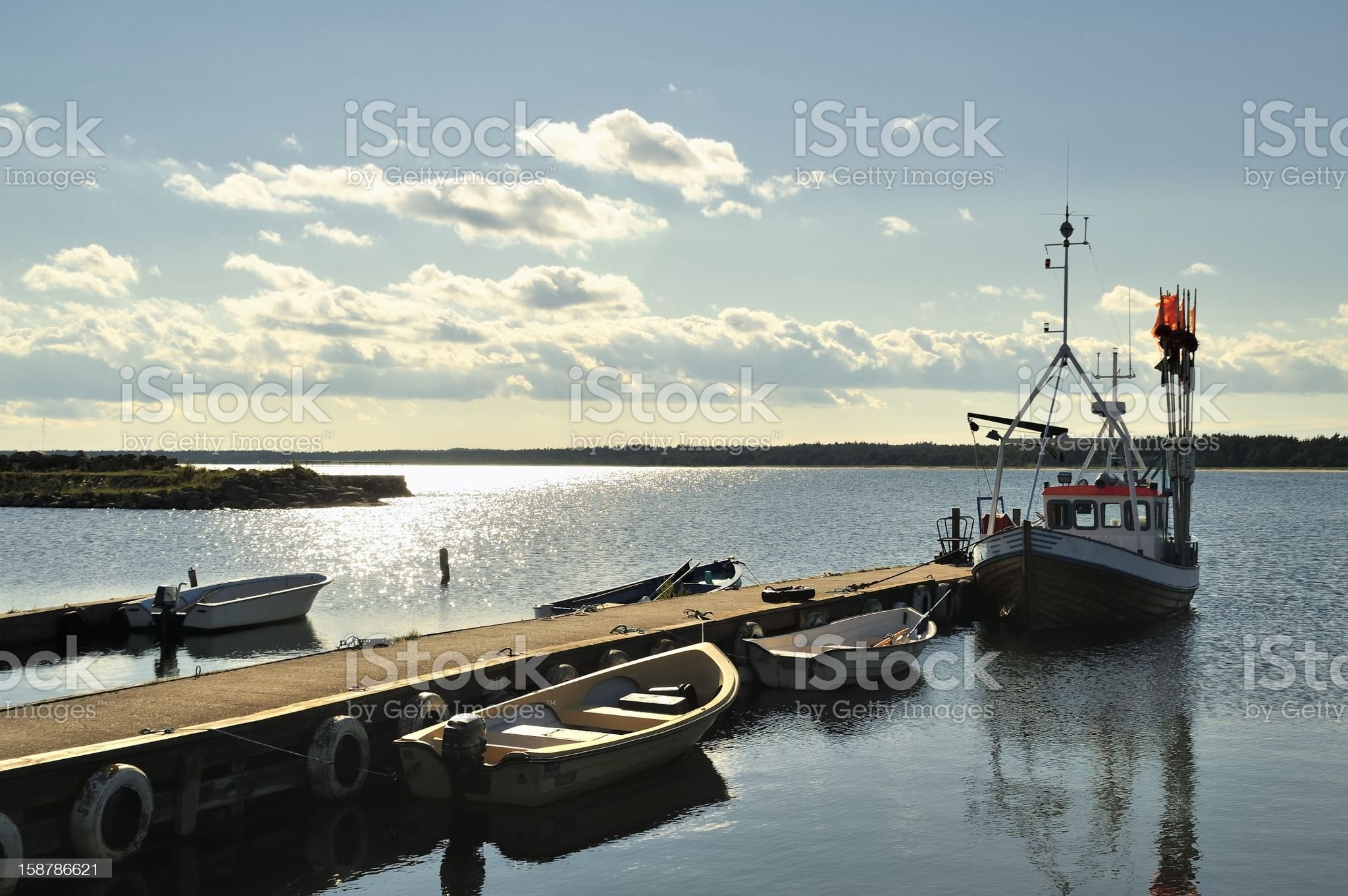 Small Dock with Boats royalty-free stock photo
