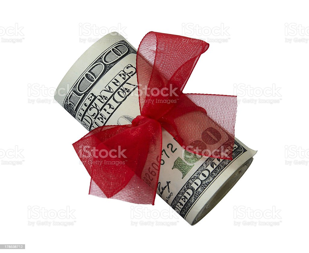 Small dollar gift royalty-free stock photo
