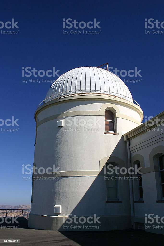 Small Dome at Lick Observatory royalty-free stock photo