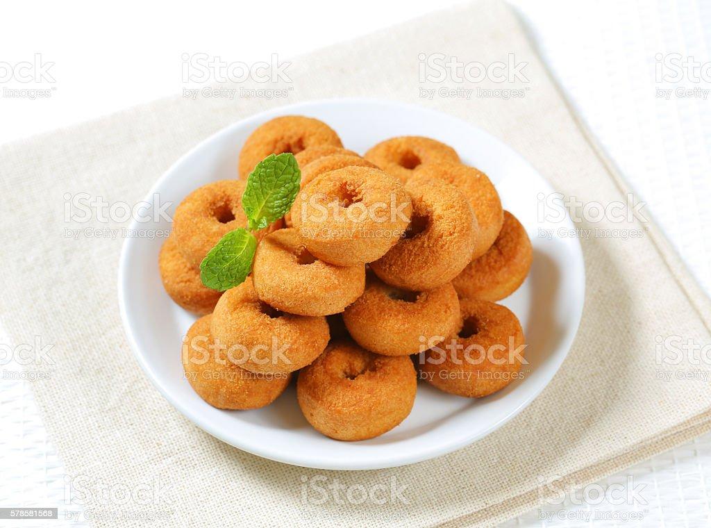 Small donuts stock photo