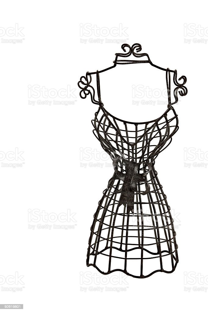 Small dressform isolated on white royalty-free stock photo