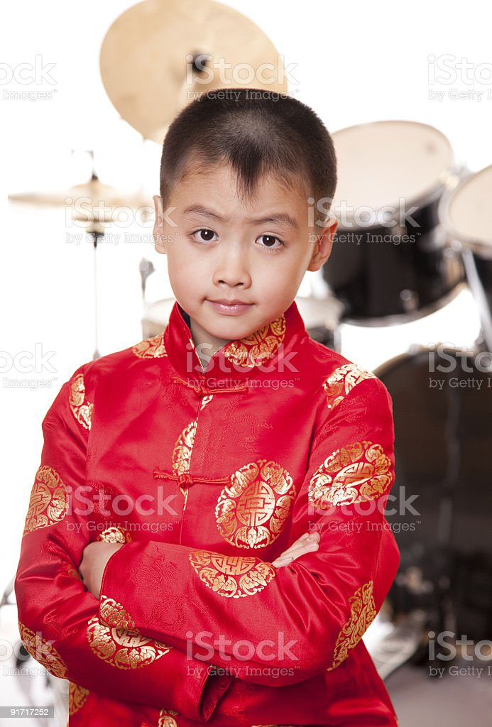 small drummer seven royalty-free stock photo